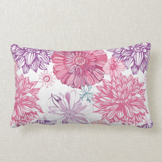 Vector flowers pattern pillow