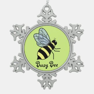 Vector Flying Bee (Green Background) Ornaments