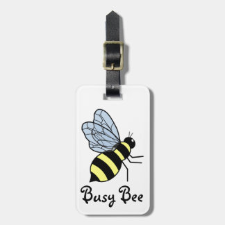 Vector Flying Bee Bag Tags