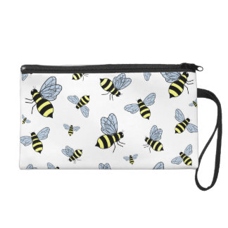 Vector Flying Bees Wristlets