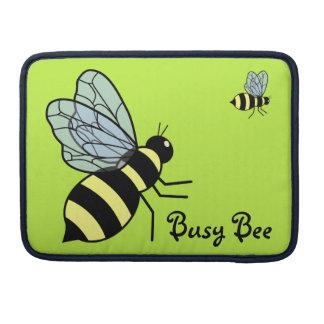 Vector Flying Bees (Green Background) MacBook Pro Sleeve