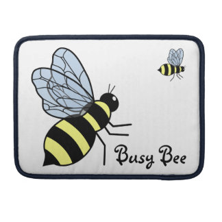 Vector Flying Bees Sleeve For MacBook Pro