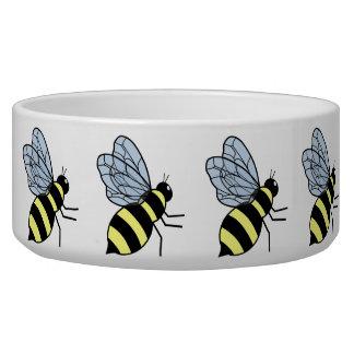 Vector Flying Bees Dog Bowl