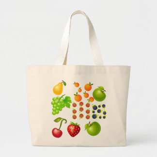 Vector Fruit   collection Large Tote Bag