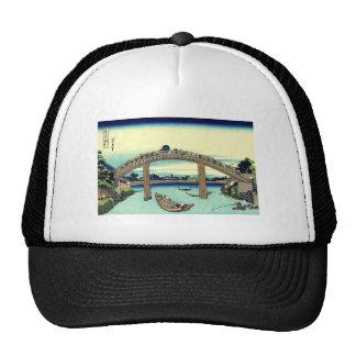 Vector Fuji through the Mannen bridge Trucker Hat
