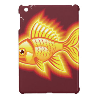 Vector gold fish glowing bright iPad mini covers