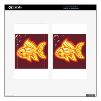 Vector gold fish glowing bright skins for kindle fire