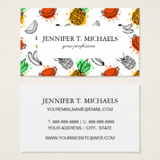 Vector Graphic Seamless Pattern Business Card