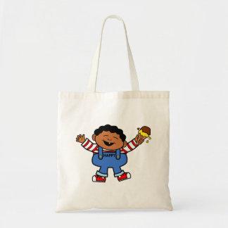 Vector Graphics African American Happy Boy Tote Bag