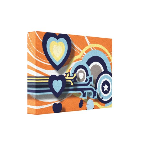 Vector Graphics Stretched Canvas Print