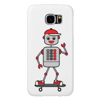 Vector Graphics Robot on Skateboard Samsung Galaxy S6 Case