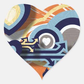 Vector Graphics Heart Sticker