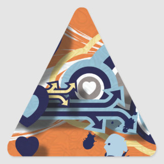 Vector Graphics Triangle Sticker