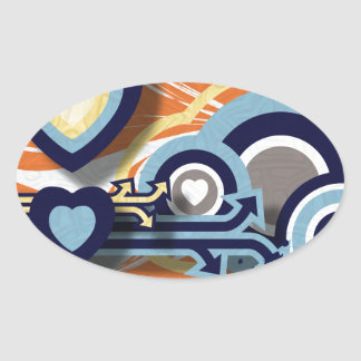 Vector Graphics Oval Sticker