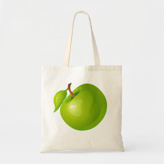 Vector  Green Apple Tote Bag