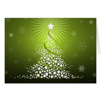 Vector Green Christmas Tree Card