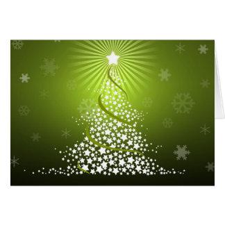 Vector Green Christmas Tree Card