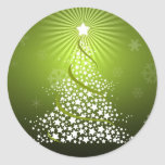 Vector Green Christmas Tree Sticker