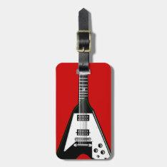 Vector Guitar Black/white Luggage Tag at Zazzle
