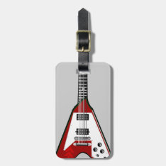 Vector Guitar Red/white Luggage Tag at Zazzle
