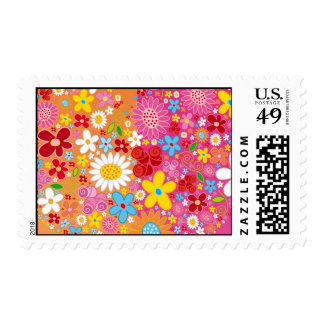 Vector_Heart_Flowers.ai Postage Stamps