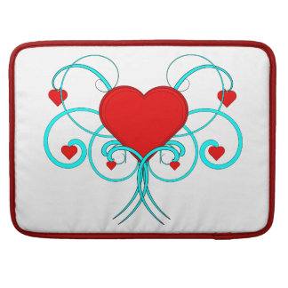 Vector Hearts Macbook Sleeve Sleeve For MacBooks