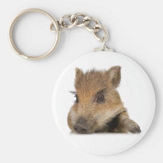 vector hinchado pote del cochinillo del cerdo llavero redondo tipo pin