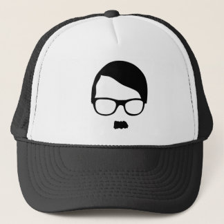 Vector Hipster Black and White trucker hat