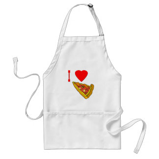 Vector I Love Pizza Slice Adult Apron
