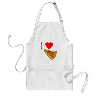 Vector I Love Pizza Slice Adult Apron