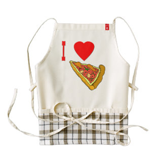 Vector I Love Pizza Slice Zazzle HEART Apron