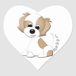 Vector illustration of a puppy heart sticker