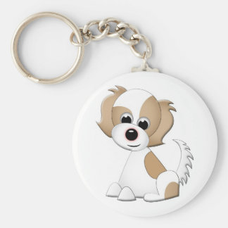 Vector illustration of a puppy keychain