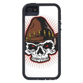 Vector illustration of Cowboy skull Case For iPhone SE/5/5s