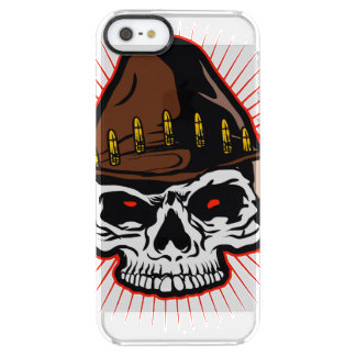 Vector illustration of Cowboy skull Clear iPhone SE/5/5s Case
