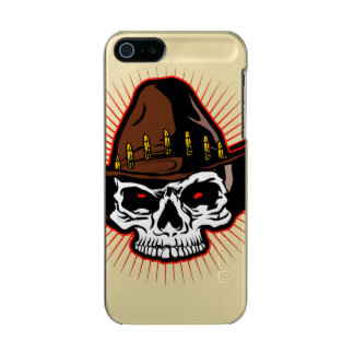 Vector illustration of Cowboy skull Metallic Phone Case For iPhone SE/5/5s