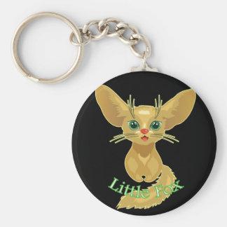 Vector illustration of cute Fox. Fun nice animal Keychain