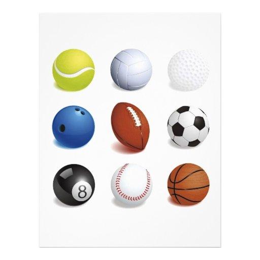 Vector Illustration of Sport Balls Flyer Design