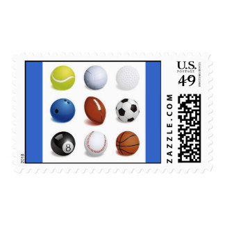 Vector Illustration of Sport Balls Postage