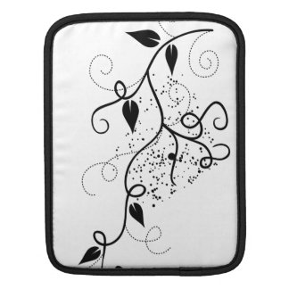 Vector ivy swirl branch girly chic floral nature sleeve for iPads