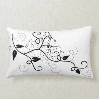 Vector ivy swirl branch girly chic floral nature throw pillow