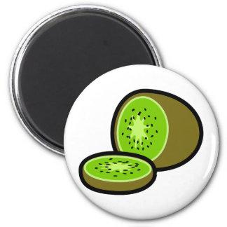 Vector kiwifruit refrigerator magnet