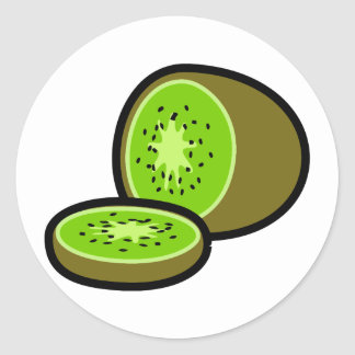 Vector kiwifruit stickers