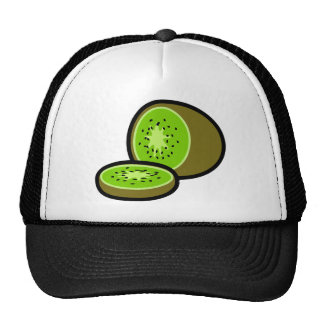 Vector kiwifruit trucker hat