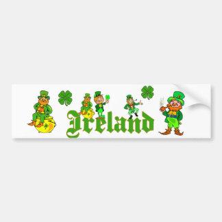 Vector - Leprechaun Clover  Ireland Bumper Sticker