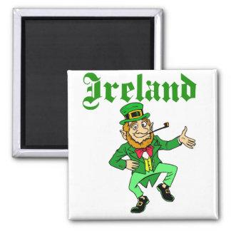 Vector - Leprechaun Ireland 2 Inch Square Magnet