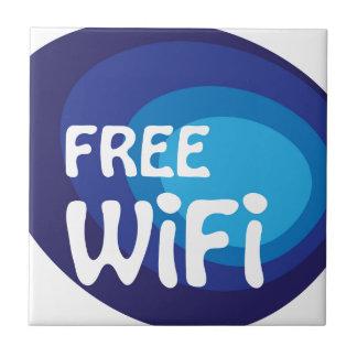 Vector libre del extracto del wifi azulejo cuadrado pequeño