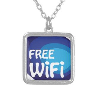 Vector libre del extracto del wifi colgante cuadrado