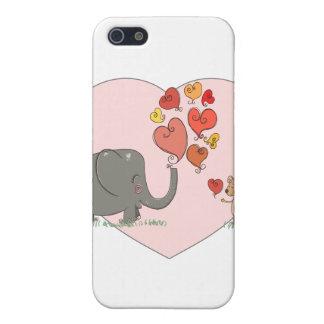 vector lindo del amor de la tarjeta del día de San iPhone 5 Protectores