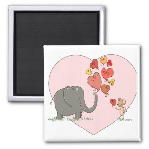 vector lindo del amor de la tarjeta del día de San Imán Para Frigorifico